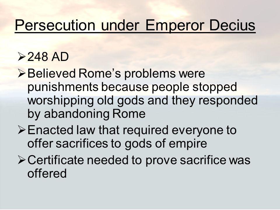 Persecution under Emperor Decius