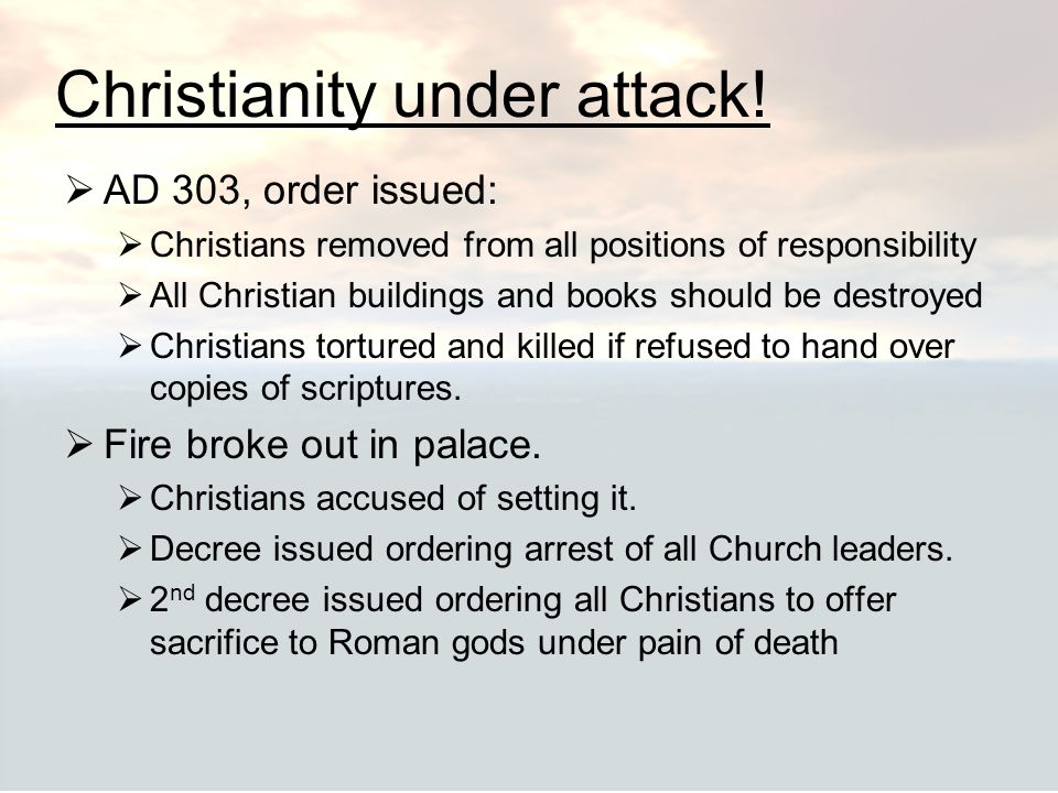 Christianity under attack!