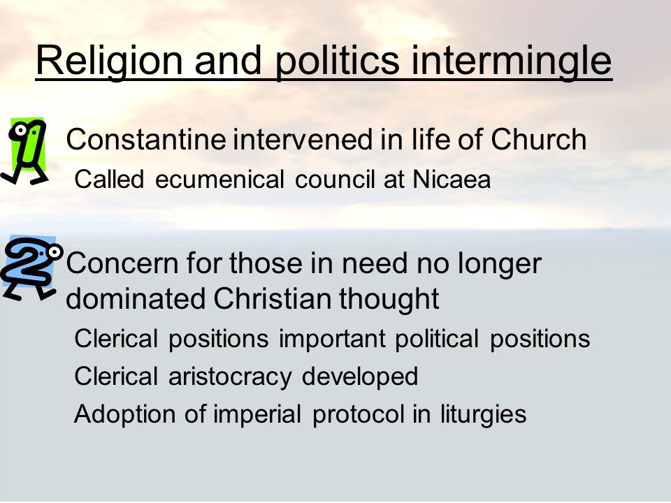 Religion and politics intermingle