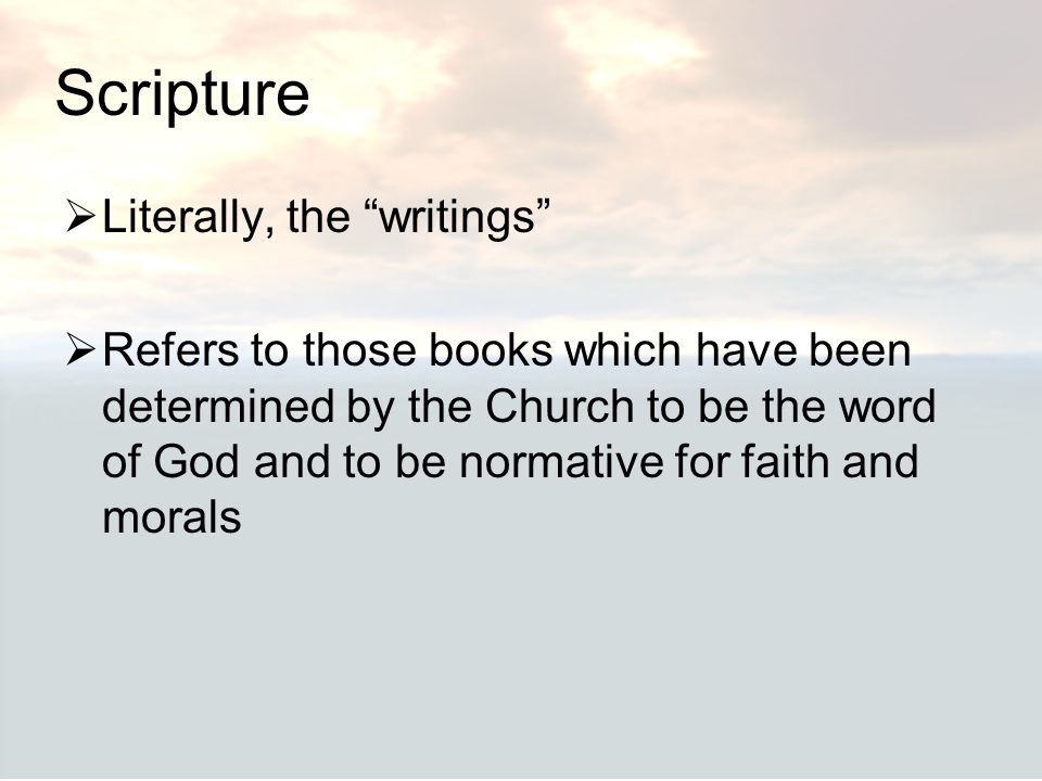 Scripture Literally, the writings