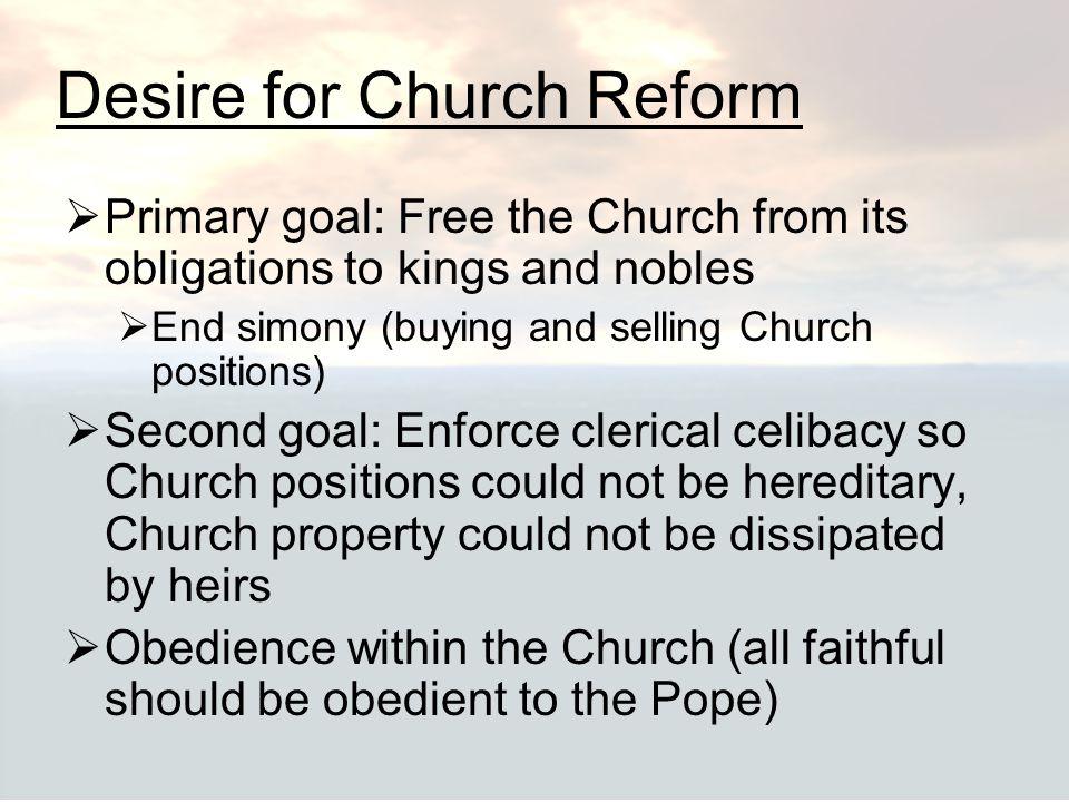 Desire for Church Reform