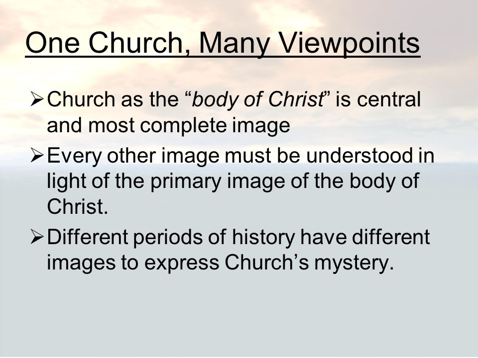One Church, Many Viewpoints