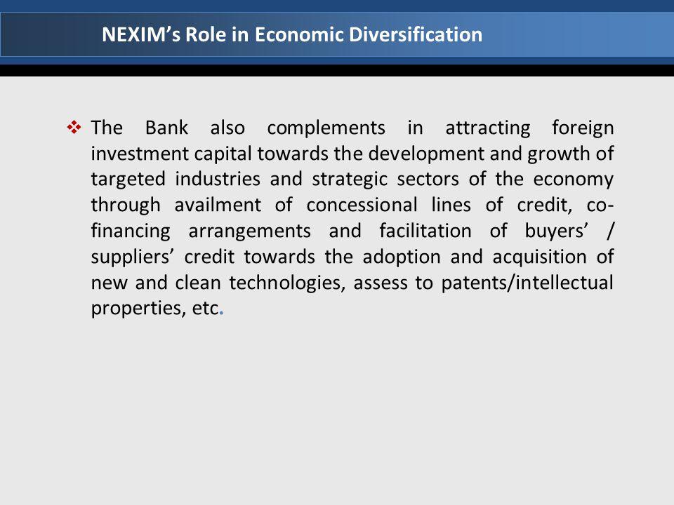 NEXIM's Role in Economic Diversification