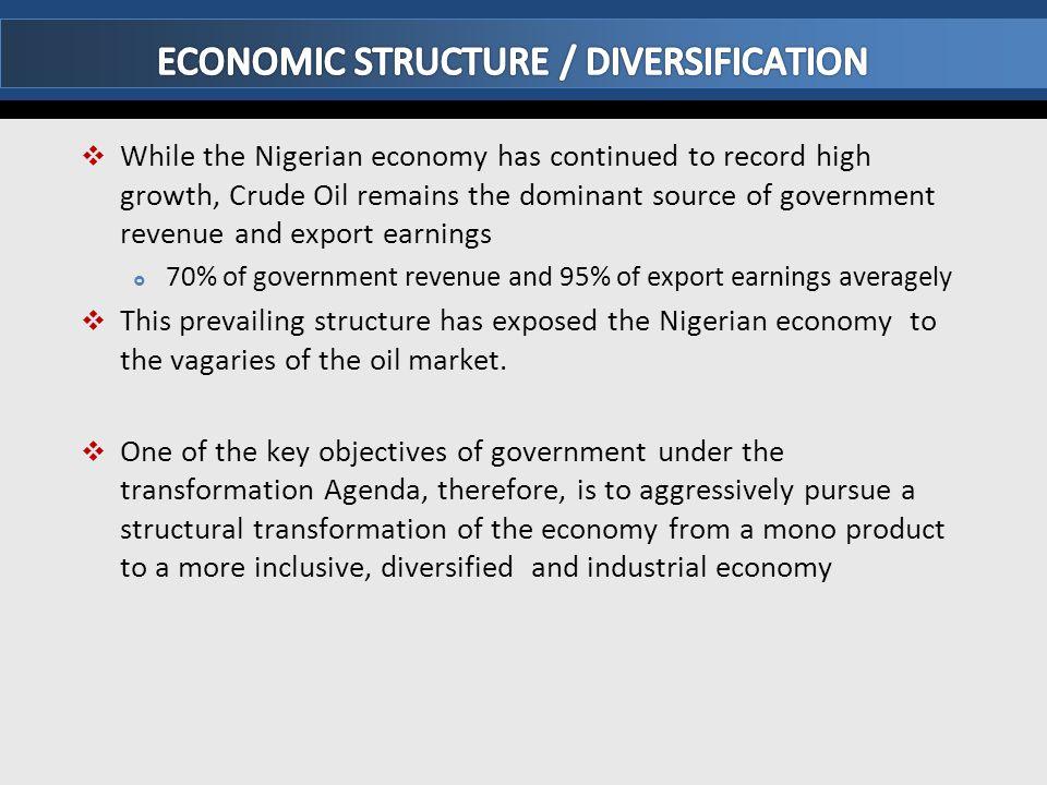 ECONOMIC STRUCTURE / DIVERSIFICATION