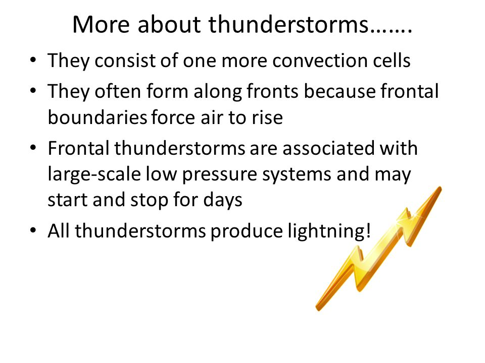 More about thunderstorms…….