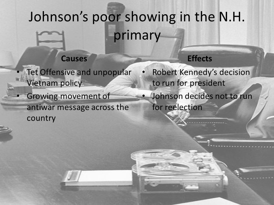 Johnson's poor showing in the N.H. primary