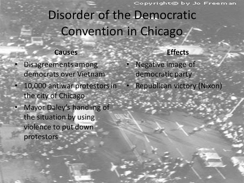 Disorder of the Democratic Convention in Chicago