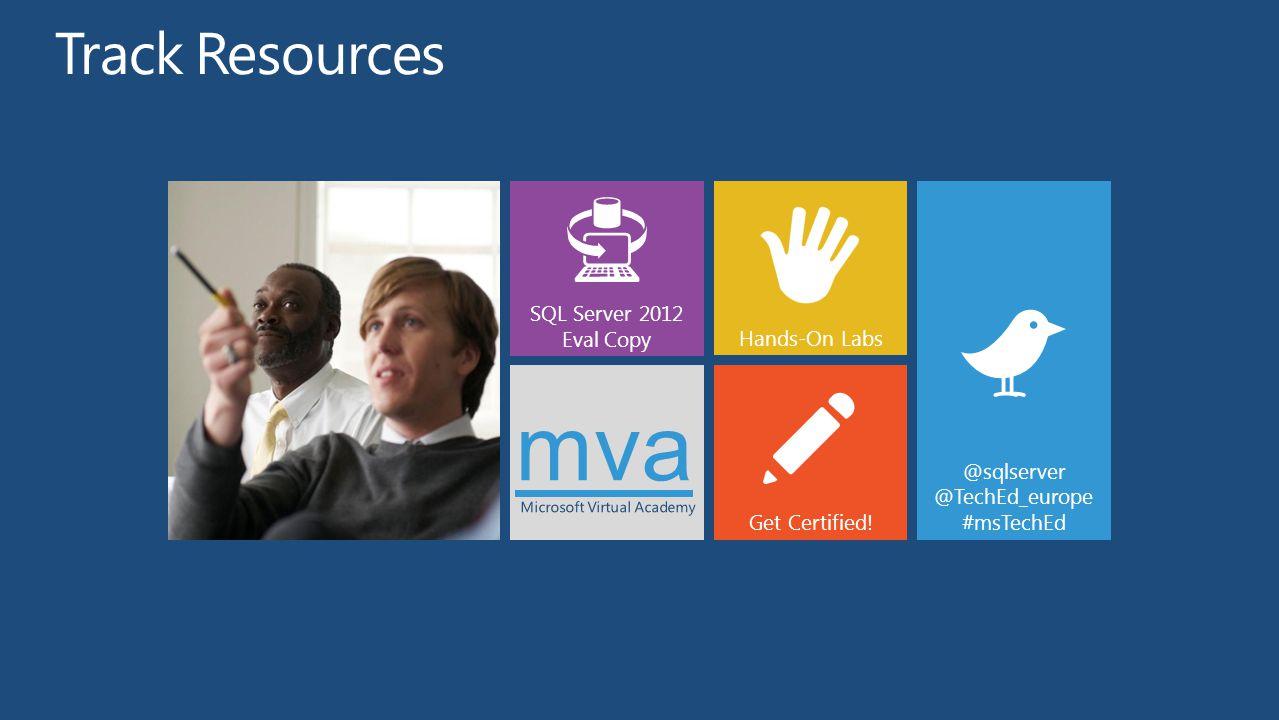 mva Track Resources SQL Server 2012 Eval Copy Hands-On Labs @sqlserver