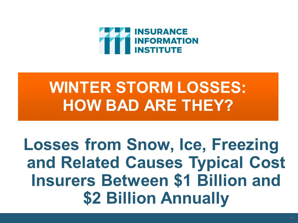 WINTER STORM LOSSES: HOW BAD ARE THEY