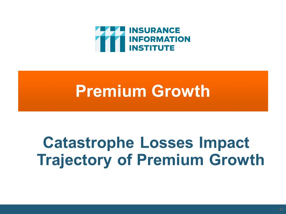 Catastrophe Losses Impact Trajectory of Premium Growth