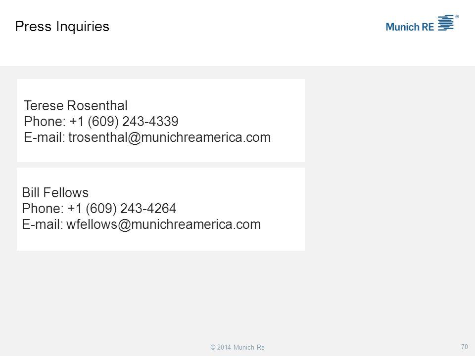 Press Inquiries Terese Rosenthal Phone: +1 (609) 243-4339