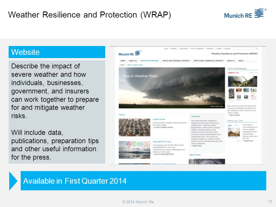 Weather Resilience and Protection (WRAP)