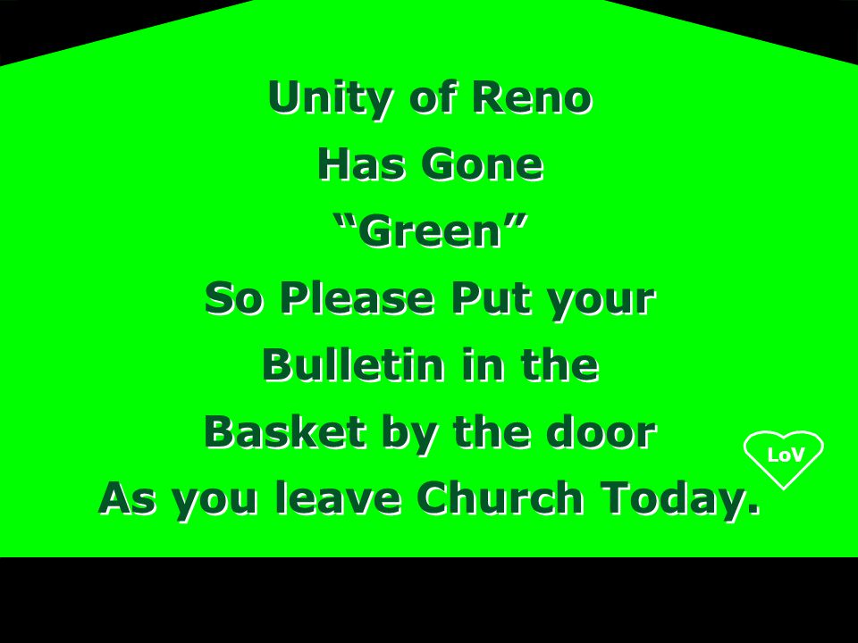 As you leave Church Today.