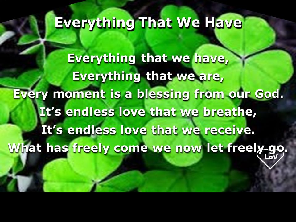 Everything That We Have