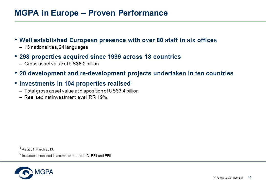 MGPA in Europe – Proven Performance