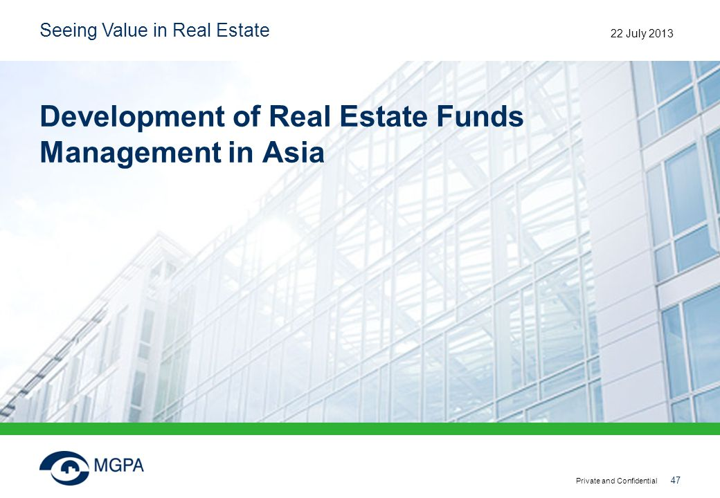 Development of Real Estate Funds Management in Asia