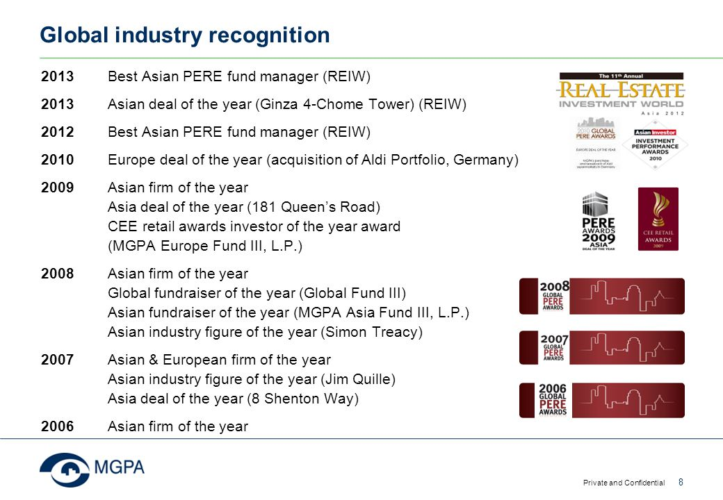 Global industry recognition