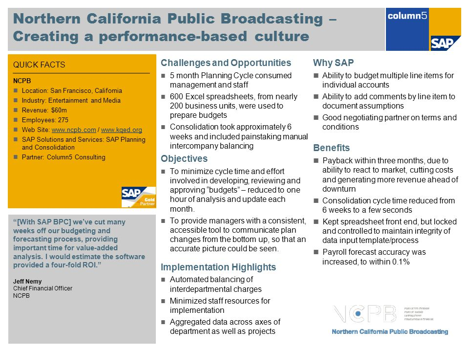 Northern California Public Broadcasting – Creating a performance-based culture