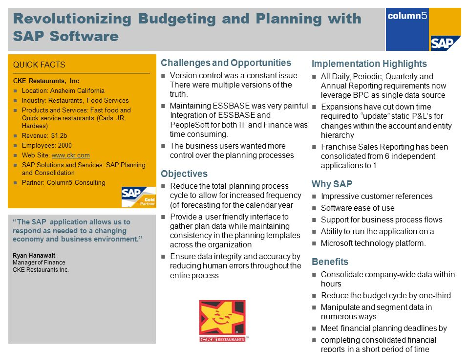 Revolutionizing Budgeting and Planning with SAP Software