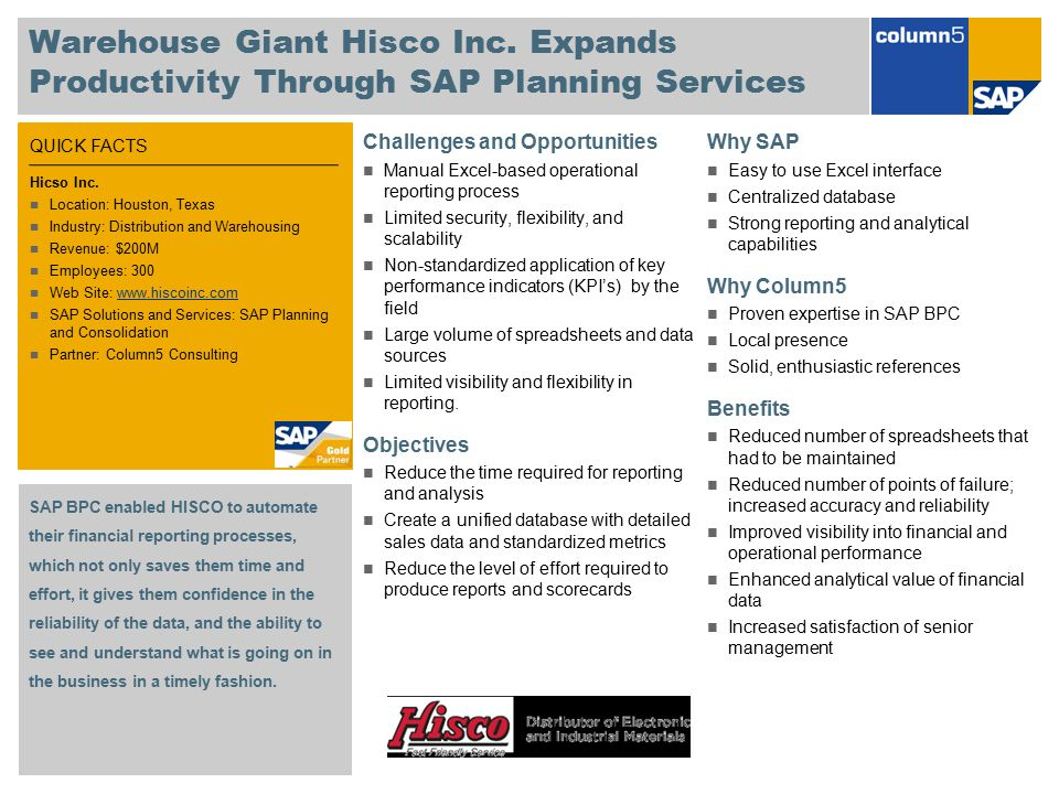 Warehouse Giant Hisco Inc