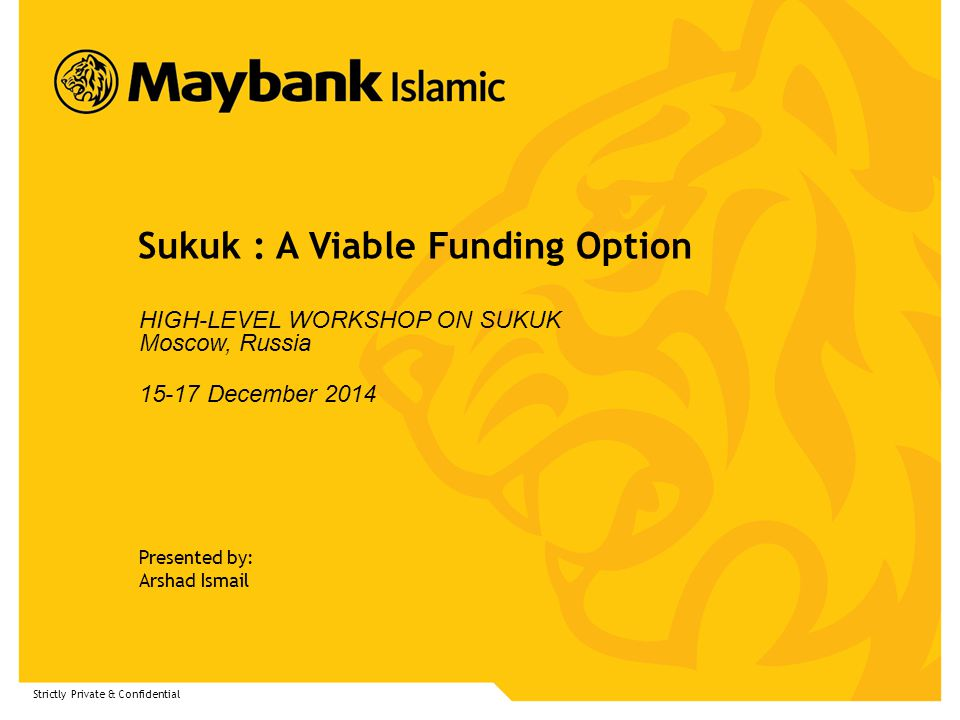 Sukuk : A Viable Funding Option