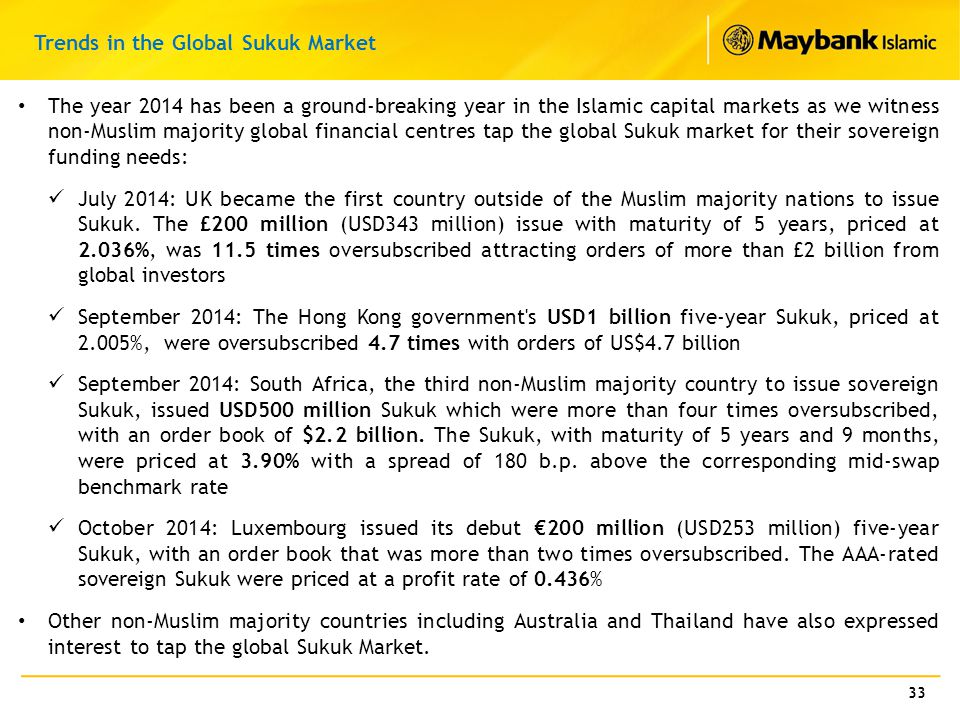 Trends in the Global Sukuk Market