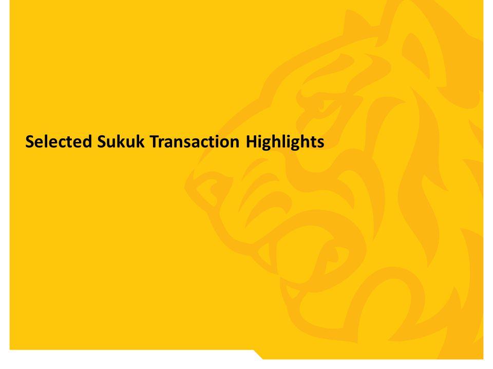 Selected Sukuk Transaction Highlights