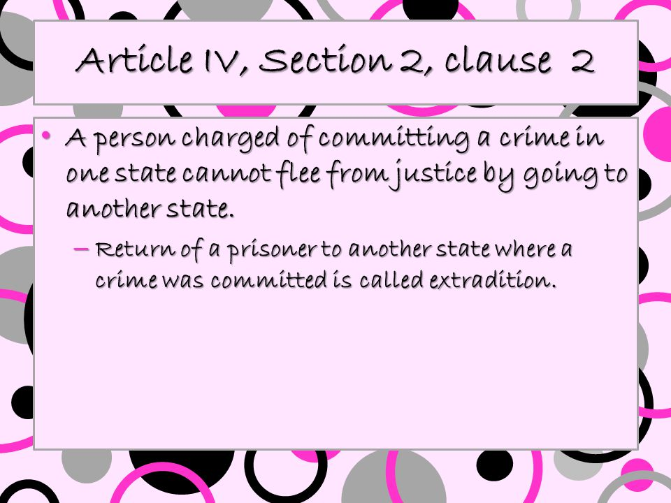 Article IV, Section 2, clause 2