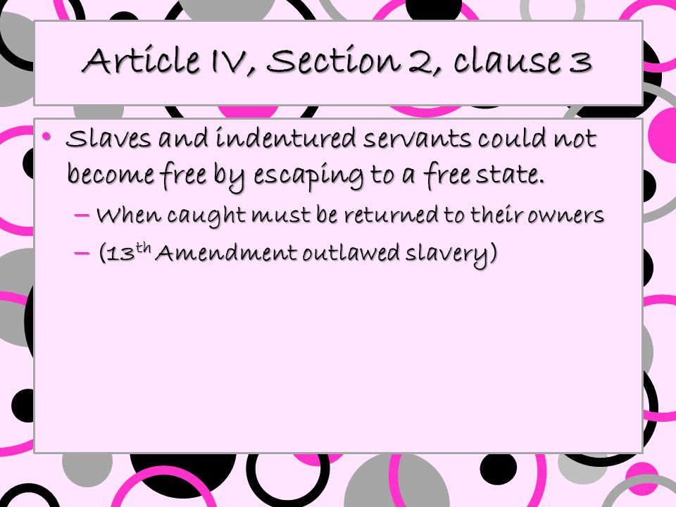 Article IV, Section 2, clause 3
