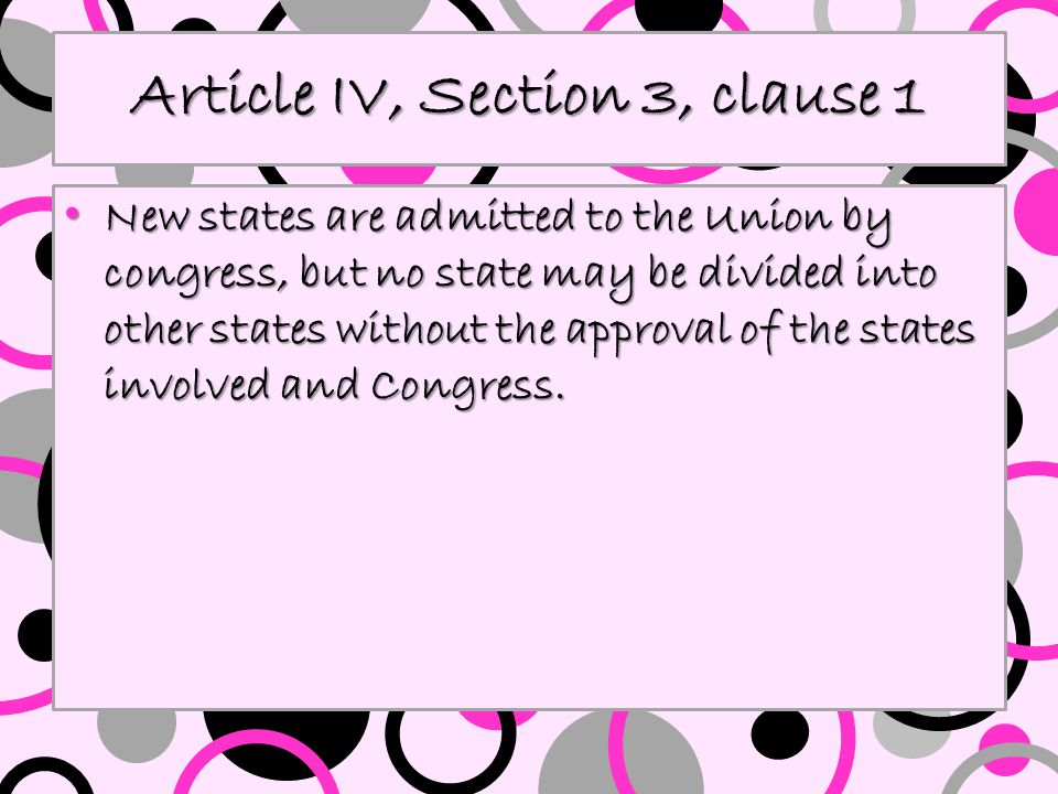 Article IV, Section 3, clause 1