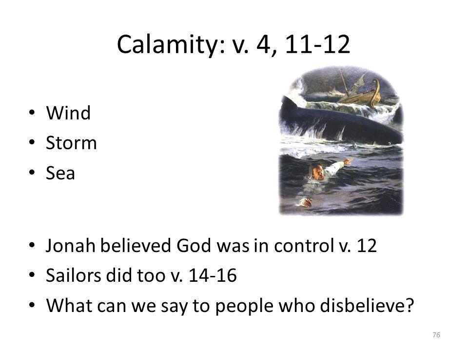 Calamity: v. 4, 11-12 Wind Storm Sea