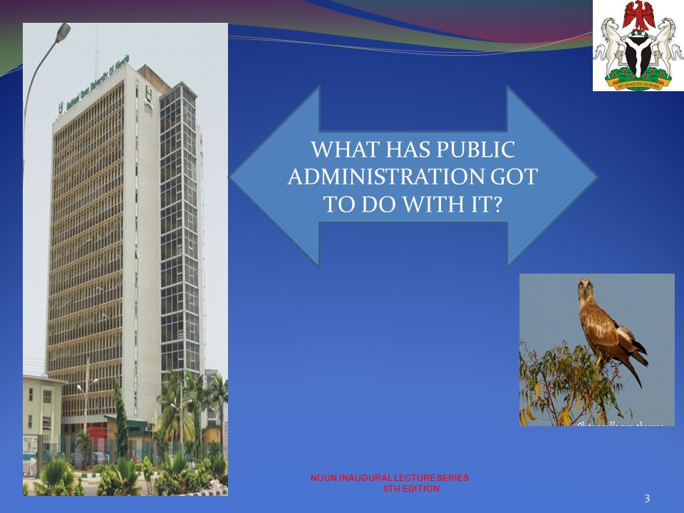 WHAT HAS PUBLIC ADMINISTRATION GOT TO DO WITH IT