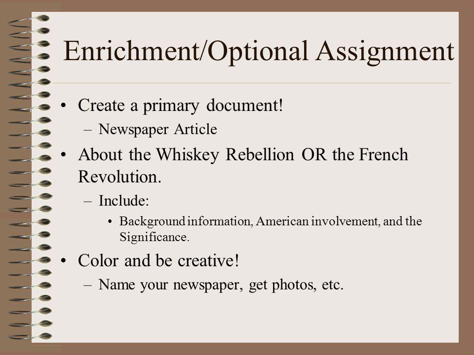 Enrichment/Optional Assignment