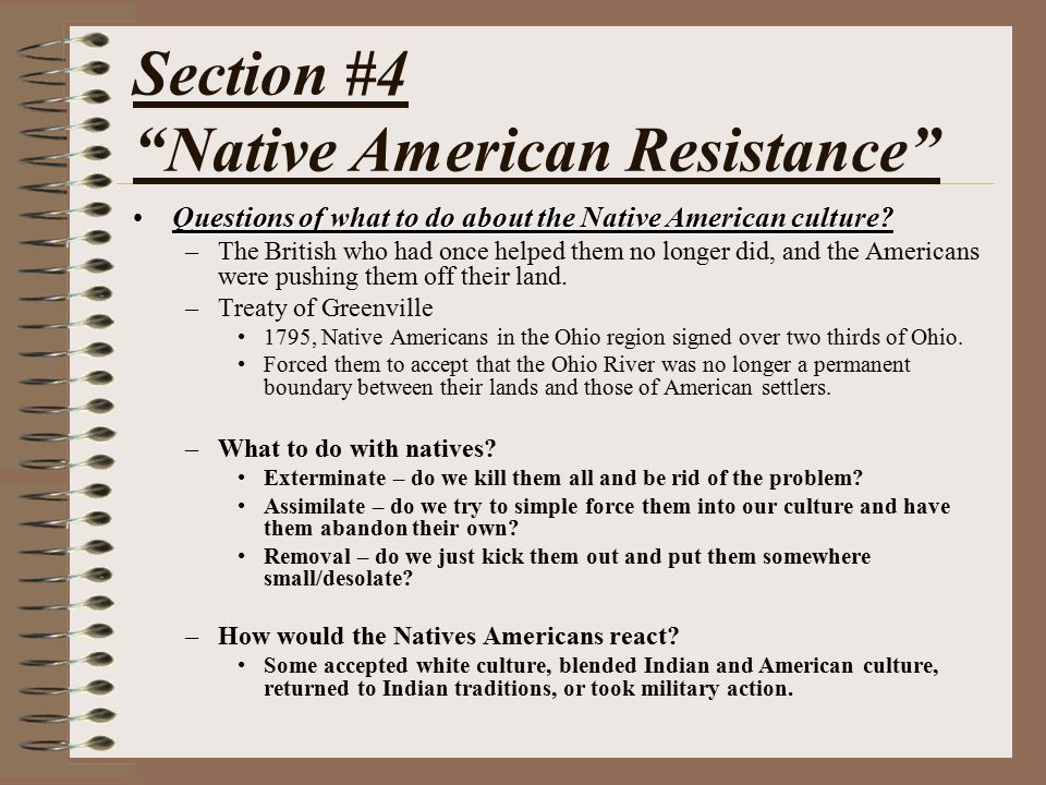 Section #4 Native American Resistance