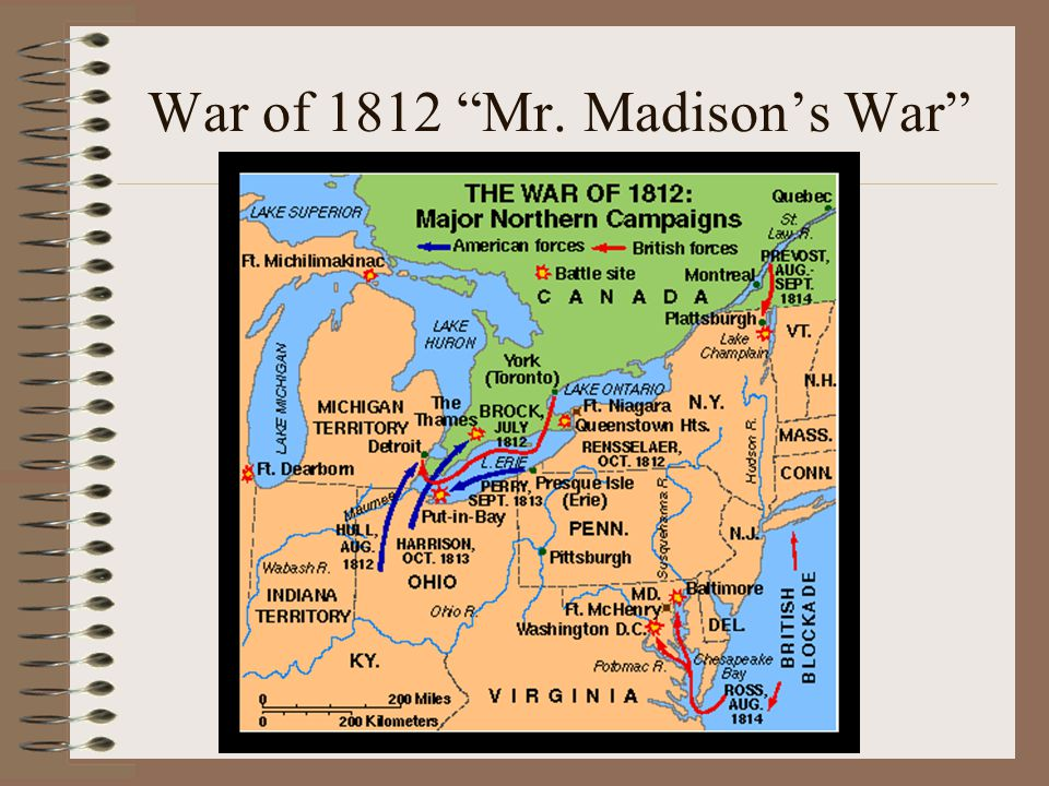 War of 1812 Mr. Madison's War
