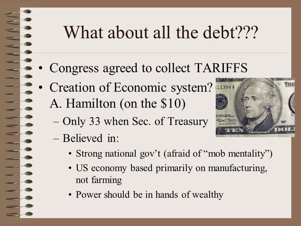 What about all the debt Congress agreed to collect TARIFFS