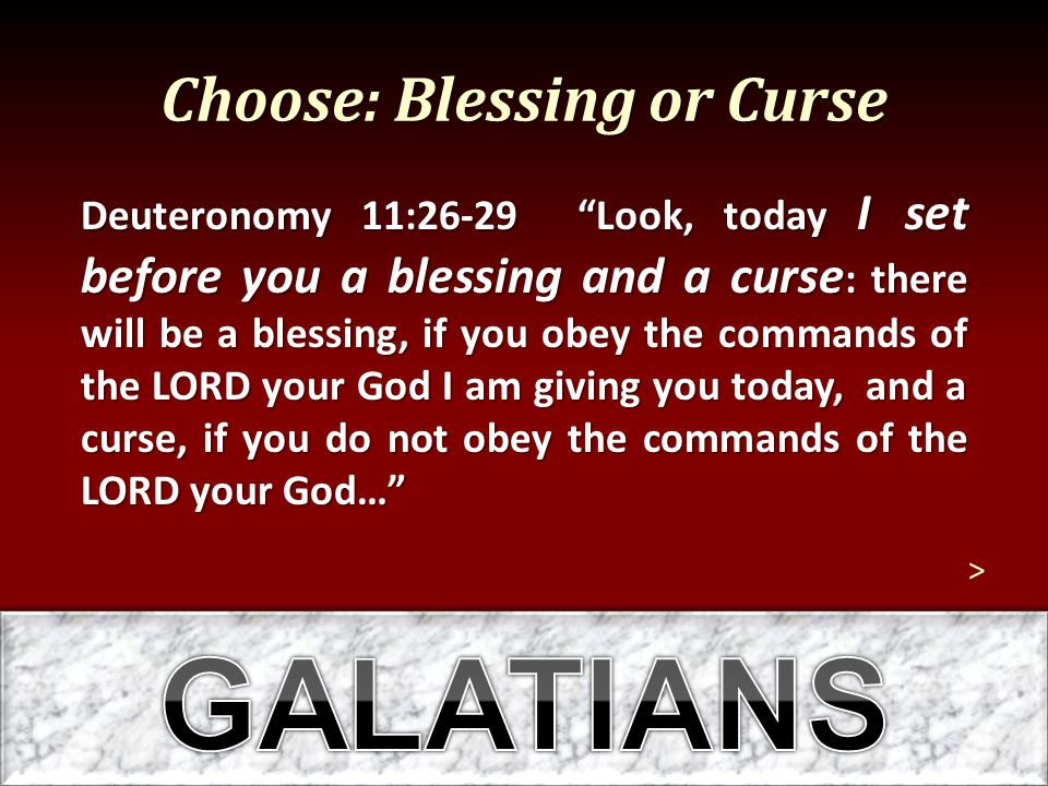 Choose: Blessing or Curse