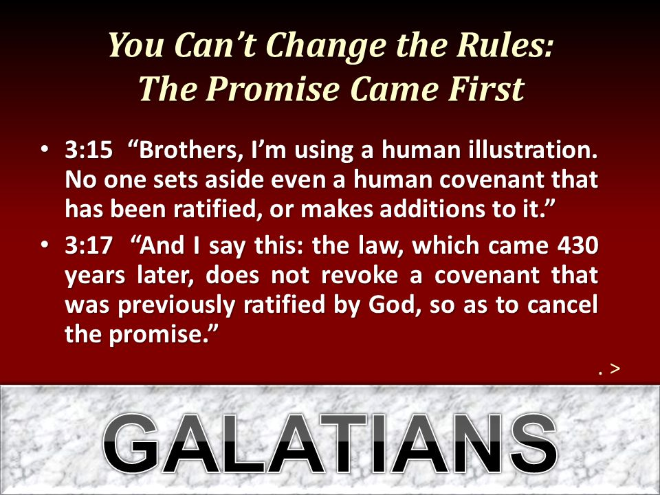 You Can't Change the Rules: The Promise Came First