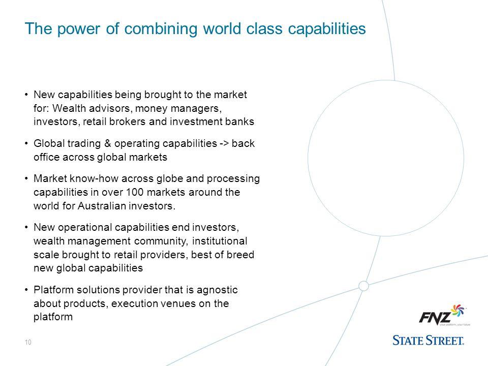The power of combining world class capabilities
