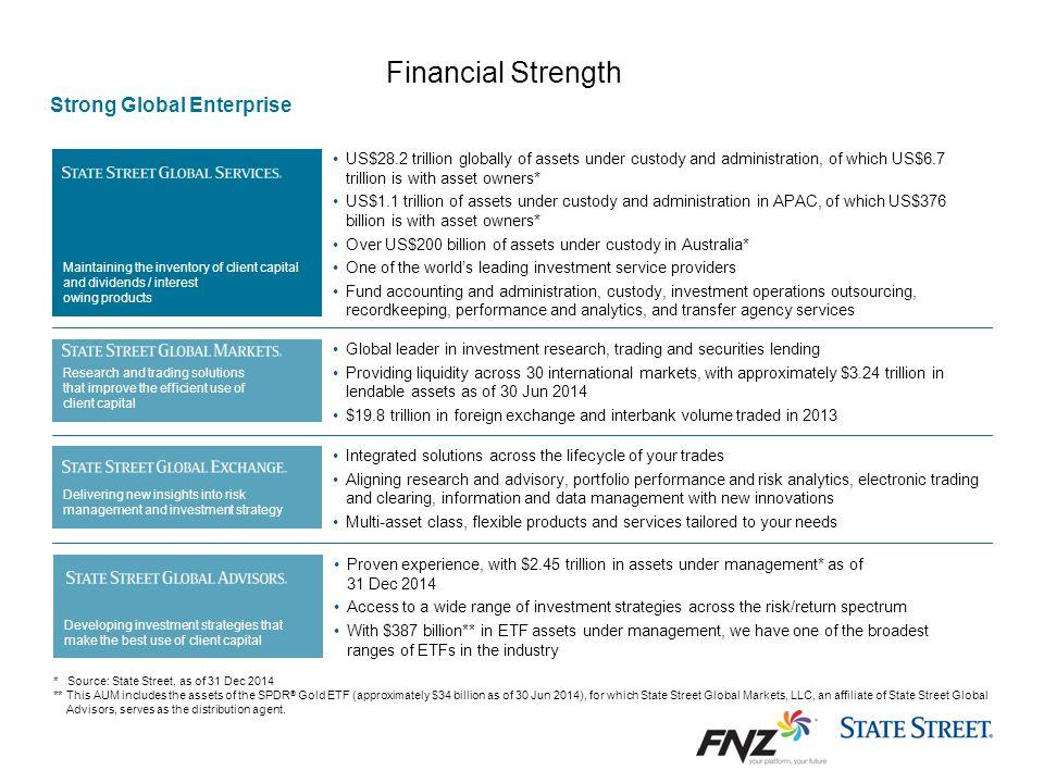Financial Strength Strong Global Enterprise