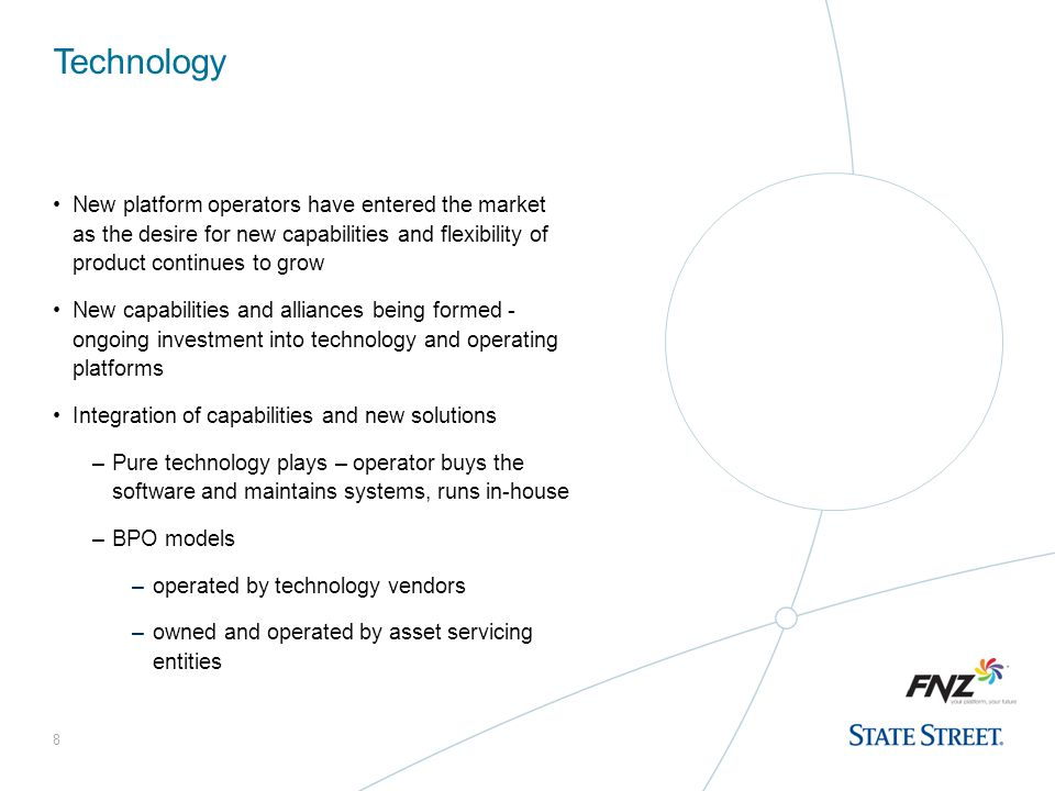 Technology New platform operators have entered the market as the desire for new capabilities and flexibility of product continues to grow.