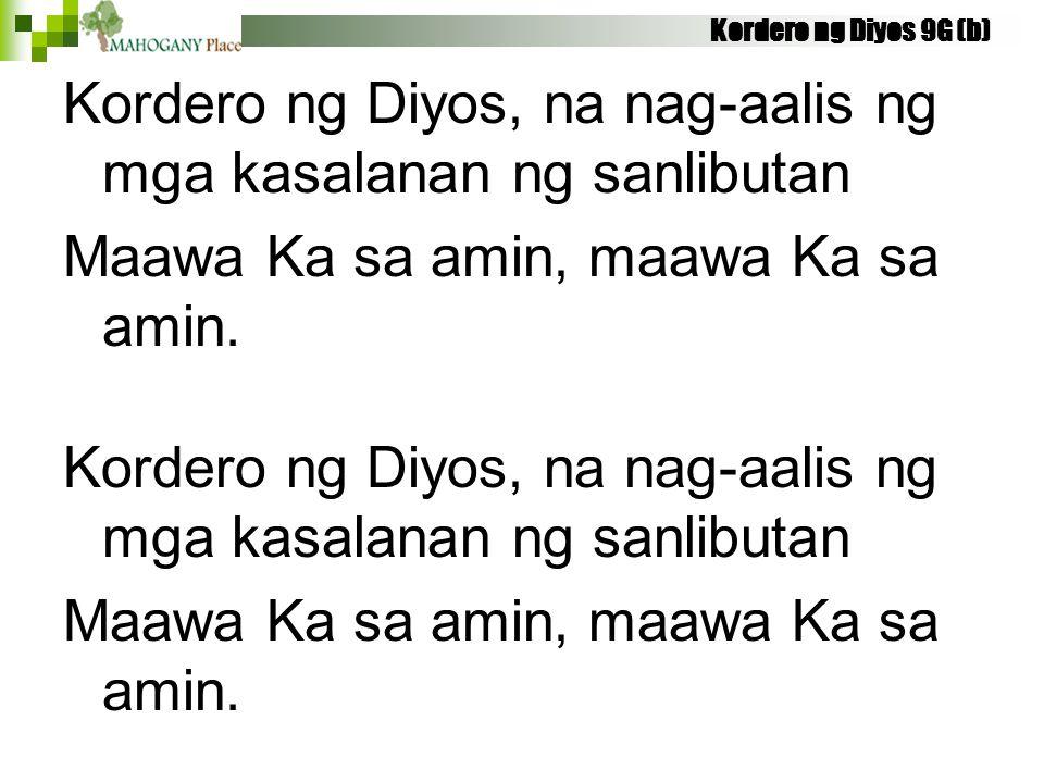 Kordero ng Diyos, na nag-aalis ng mga kasalanan ng sanlibutan