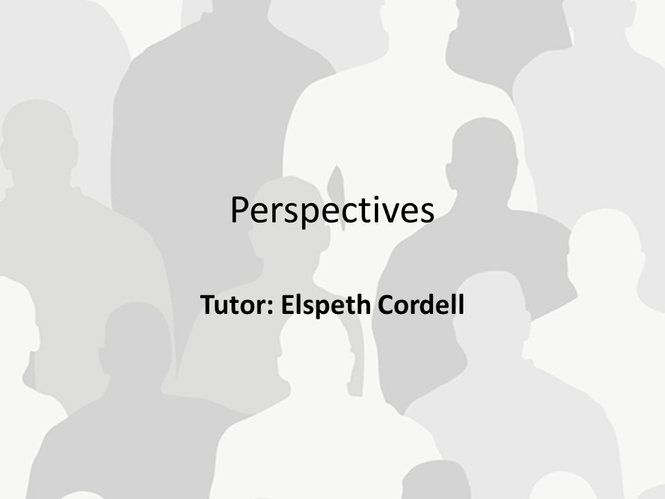 Tutor: Elspeth Cordell