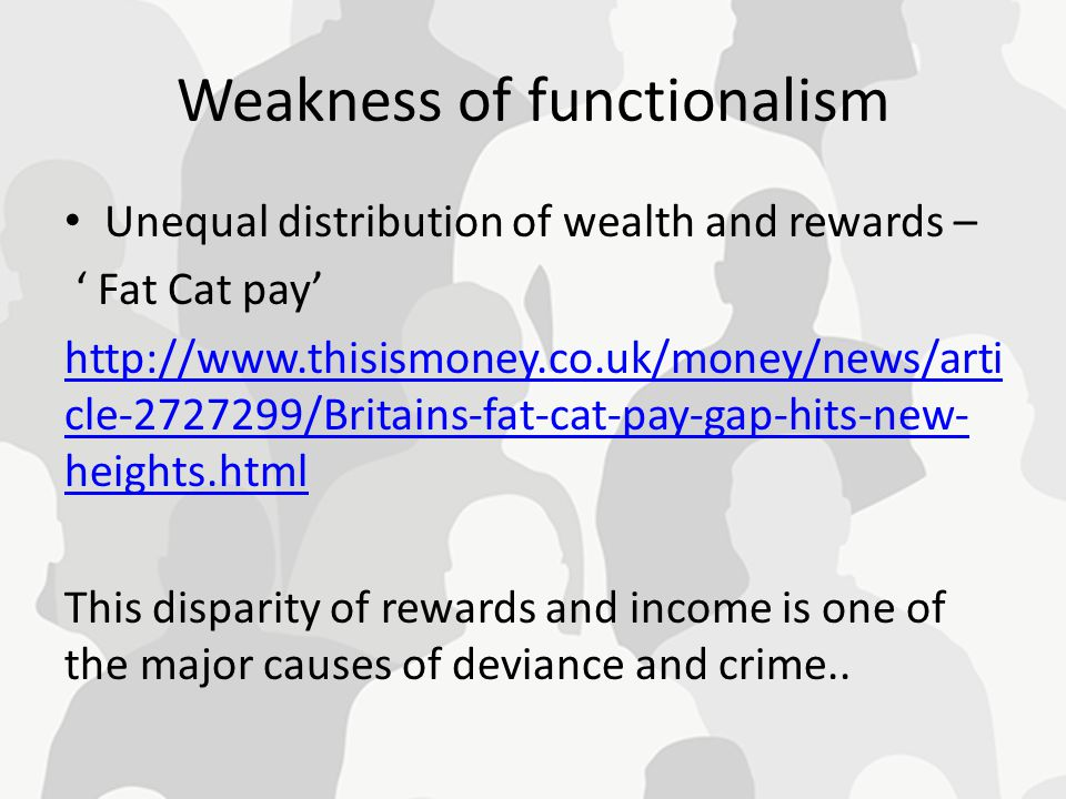 Weakness of functionalism