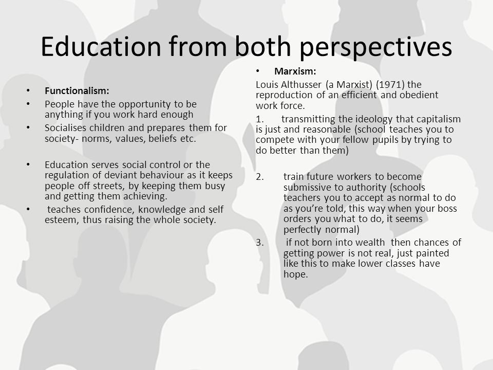 Education from both perspectives