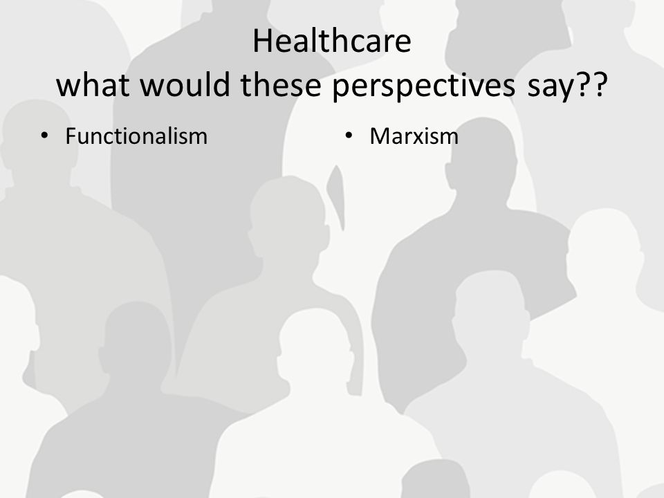 Healthcare what would these perspectives say