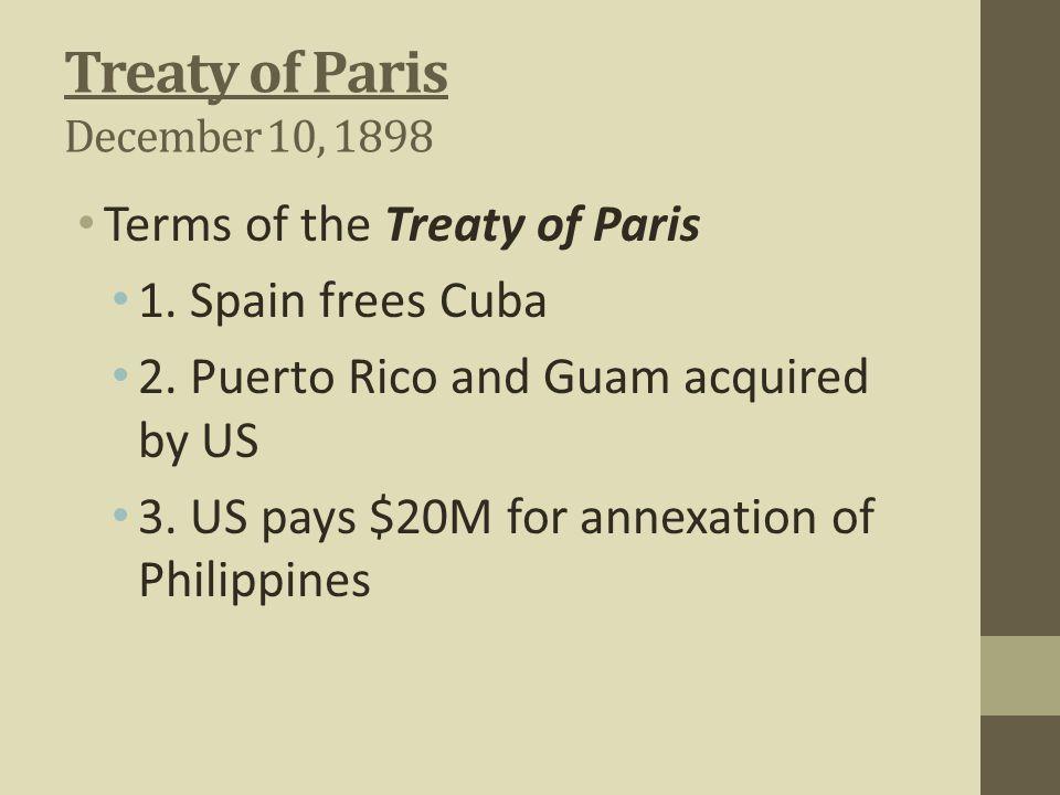 Treaty of Paris December 10, 1898