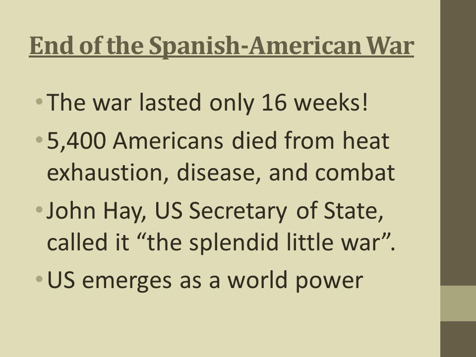 End of the Spanish-American War