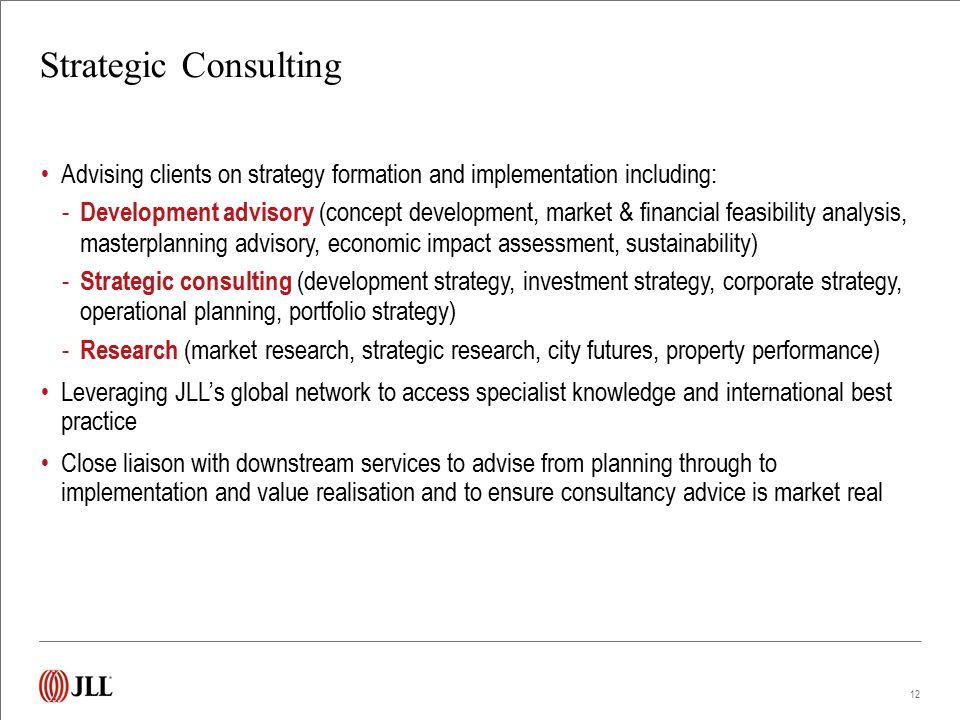 Strategic Consulting Track Record