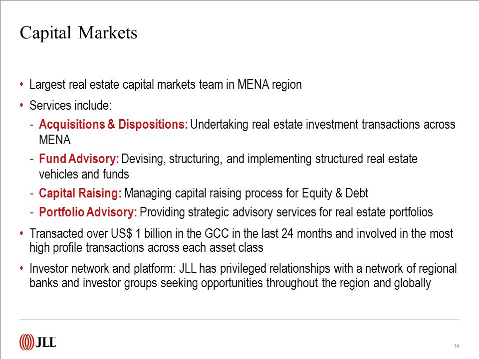 Capital Markets Track Record